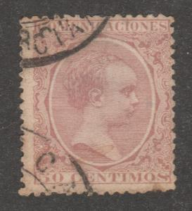 Spain stamp, used,Scott# 266, 50 centimos, #M413