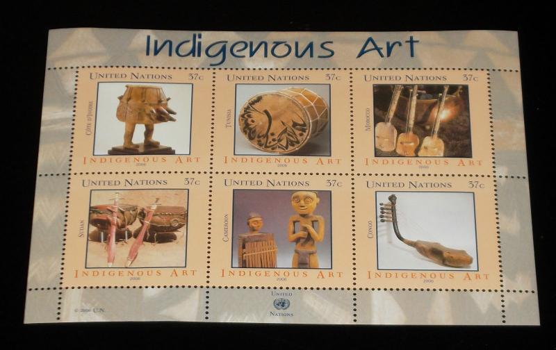 U.N.NEW YORK #897, 2006, INDIGENOUS ART, SOUVENIR SHEET, MNH,NICE! LQQK!