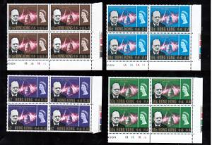 Hong Kong #225 - #228 Very Fine Never Hinged Set With Margins