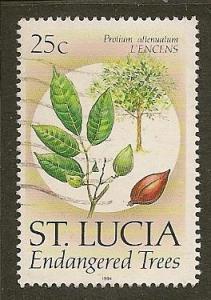 St. Lucia  Scott   956a   Tree     Used