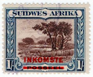 (I.B) South-West Africa Revenue : Duty Stamp 1/-