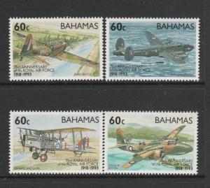 Bahamas aircraft 1993 75th Anniv Raf UM SG MS961, see notes