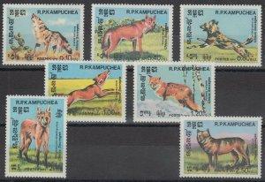 1984 Cambodge(Kampuchea) 577-583 Dogs 12,00 €