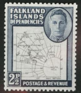 Falkland Islands Dependencies Scott 1L13, MH*  (SG G11)