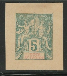 French Ivory Coast France Postal Stationery Cut Out A17P2F343