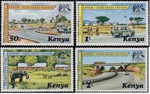 Kenya MNH 94-7 Nairobi Highway Landscape 1977