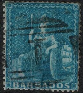 Barbados 1861 SC 14 Used SCV $93.00