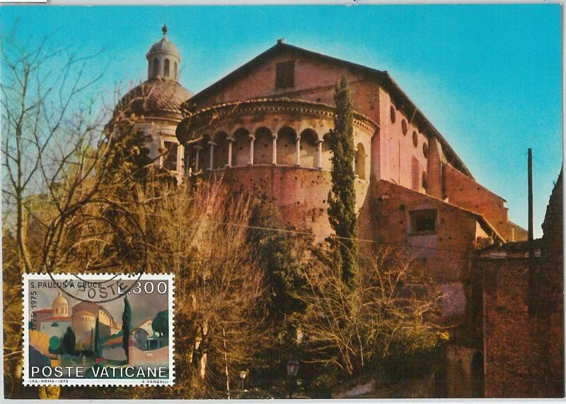 59142  -  VATICANO - POSTAL HISTORY: MAXIMUM CARD 1976  - ARCHITECTURE