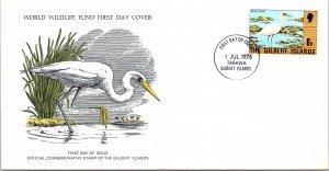 Gilbert & Ellice Islands, Worldwide First Day Cover, Birds