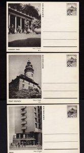 Lot 3 Czechoslovakia  Ceskoslovenska Postal Cards Karlovy Vary, Cesky Krumlov