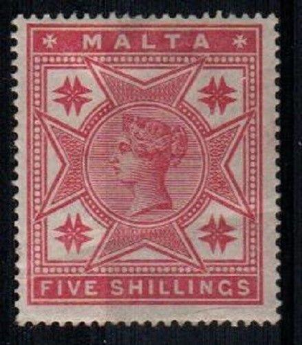 Malta Scott 14 Mint hinged (ironed out crease) - Catalog Value $125.00