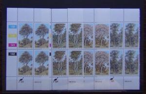Ciskei 1983 Trees 1st Series set in Block x 4 MNH