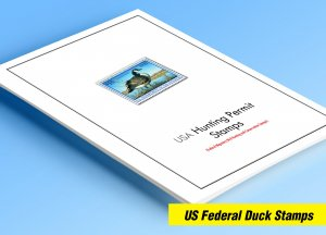 COLOR PRINTED USA FEDERAL DUCK 1934-2020 STAMP ALBUM PAGES (46 illustr. pages)