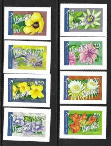 2006    VANUATU  -  SG.  982a / 982h  -  INTERNATIONAL FLOWERS - S/A  -  MNH