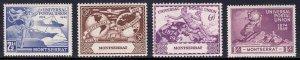 Montserrat - Scott #108-111 - MH - Diagonal crease #110 - SCV $3.40