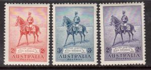 Australia #152 - #154 VF/NH Set