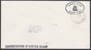 NORFOLK IS 1983 Official cover to Australia.................................M634