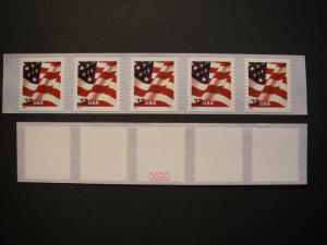 Scott 3632C, 37c Waving Flag, PNC5 #S1111, 04 date, # on #
