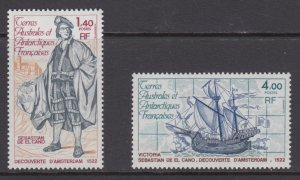 French Southern & Antarctic Territories   #87-88    mnh      cat $2.60