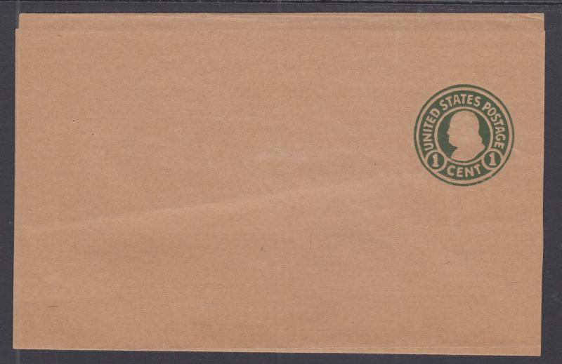 US Sc W427 mint 1920 1c green Franklin Wrapper, fresh & VF