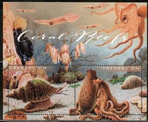 GRENADA 2017  CORAL REEFS SET OF TWO SHEETS OF TWO  MINT NH