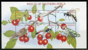 LESOTHO INSECTS OF SOUTHERN AFRICA SHEET  MINT NH