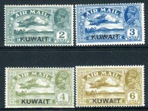 KUWAIT-1933-34 Air.  A mounted mint set Sg 31-34