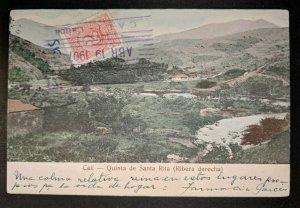 1907 Quinta de Santa Rita Cali Columbia to Paris Real Picture Postcard Cover