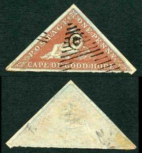 COGH SG1a 1d Deep Brick-Red Blued Paper PB Printing FRAME VARIETY
