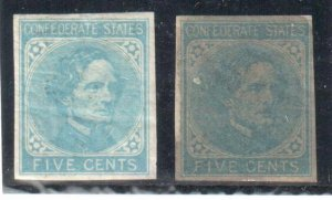USA Confederate States #6, 7 and #13 C$452.00