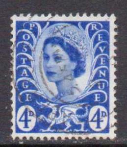 Great Britain-Wales     #2  used  (1966)