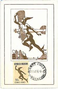 MYTHOLOGY \ AVIATION : MERCURY - MAXIMUM CARD ARGENTINA 1942
