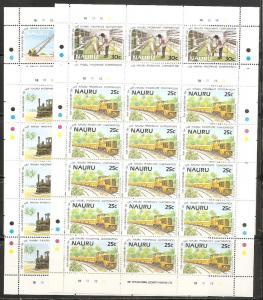 Nauru 307-10 1985 Phosphate m/s MNH