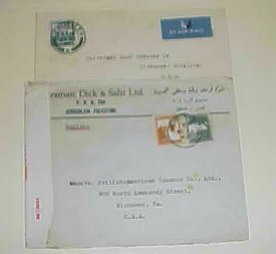 PALESTINE JERUSALEM 1942 CENSORED COVER & 1949
