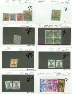 EDW1949SELL : BAHRAIN Very clean Mint & Used collection with some NH Cat $226.00