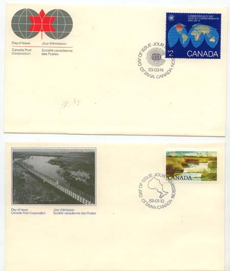Canada - 1983-1985 71 Cacheted First Day Covers in Album