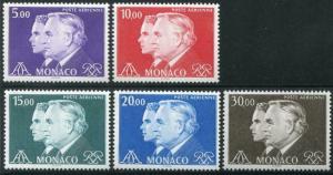 HERRICKSTAMP MONACO Sc.# C84-88 Princes NH Stamps Cat. Value $30.00