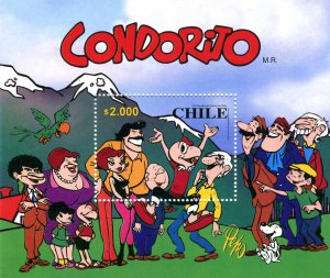 Chile 2000 CONDORITO Cartoons s/s Perforated Mint (NH)