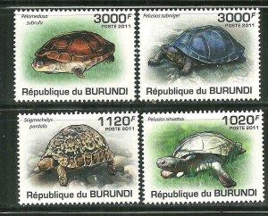 Burundi MNH 897-900 Turtles 2011 SCV 13.50