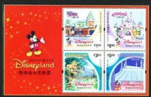 STAMP STATION PERTH Hong Kong #1025a Souvenir Sheet Disneyland MNH 2003