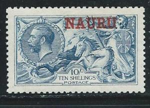 Nauru 15 1916-23 10sh KGV single MLH