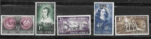 South West Africa # 166-70  Jan Van Riebeeck  (5) Mint NH
