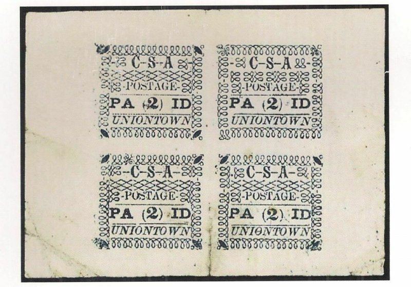 Confederate Book: UNIONTOWN ALA Postmaster's Provisionals by CROWN (with census)