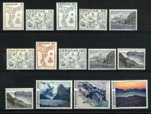 Faroe Islands #7-20   Mint VF NH 1975 PD