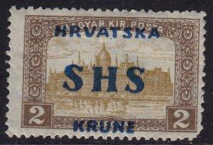 Yugoslavia Croatia - 1918 - Scott #2L20 - MNH - Overprint