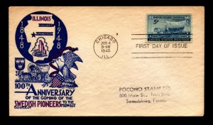 SC# 958 FDC / Staehle Cachet Craft / Addressed - L13455