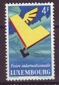J18980 Jlstamps 1954 luxembourg set of 1 mh #299 map