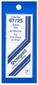 Mounts Showgard, 67/25mm (40ea. Black) (00529B)