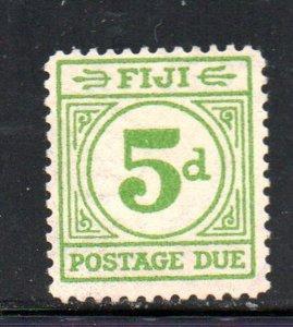 Fiji Sc J16 19405d bright green postage due stamp mint