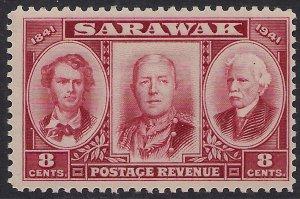 Sarawak 1946 KGV1 8ct LakeJames Brooke Umm SG 146 ( E423 )